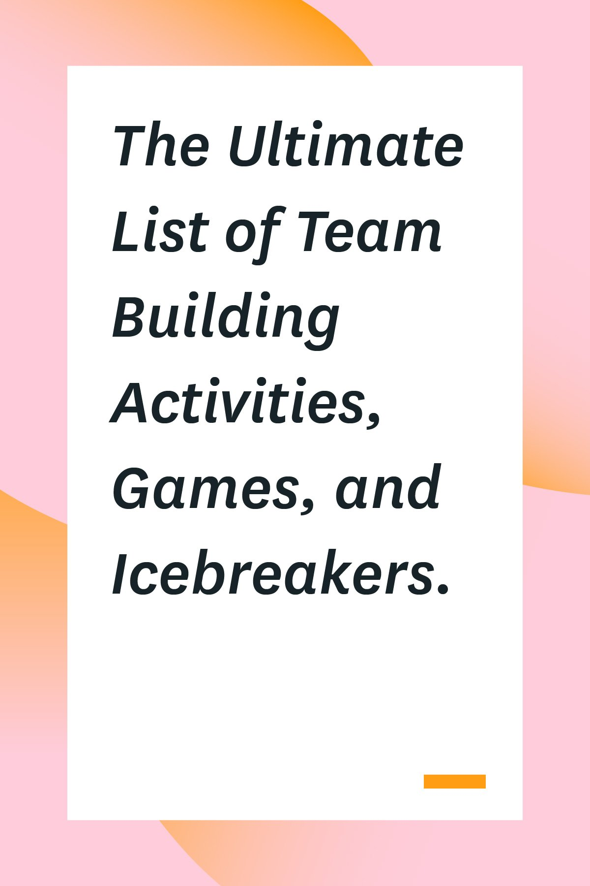 Team building games don't have to feel cheesy. In fact, team building activities and icebreakers can be the perfect way to help your team bond and problem solve better together. Here's an epic list of team building games to get you started. #teambuilding #icebreakers #remoteteam