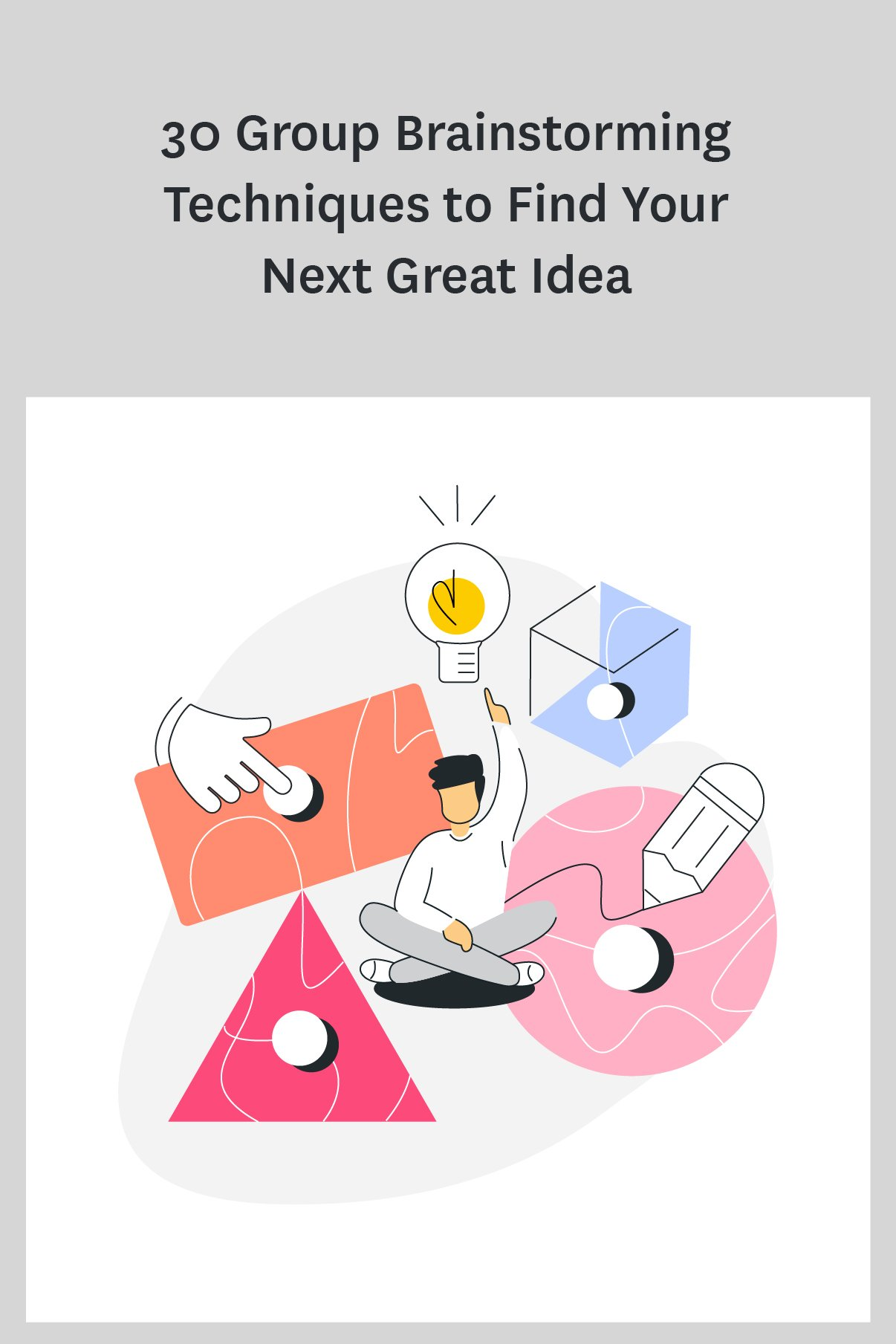 These group brainstorming techniques will help your team come up with epic ideas. #brainstorm #teamwork