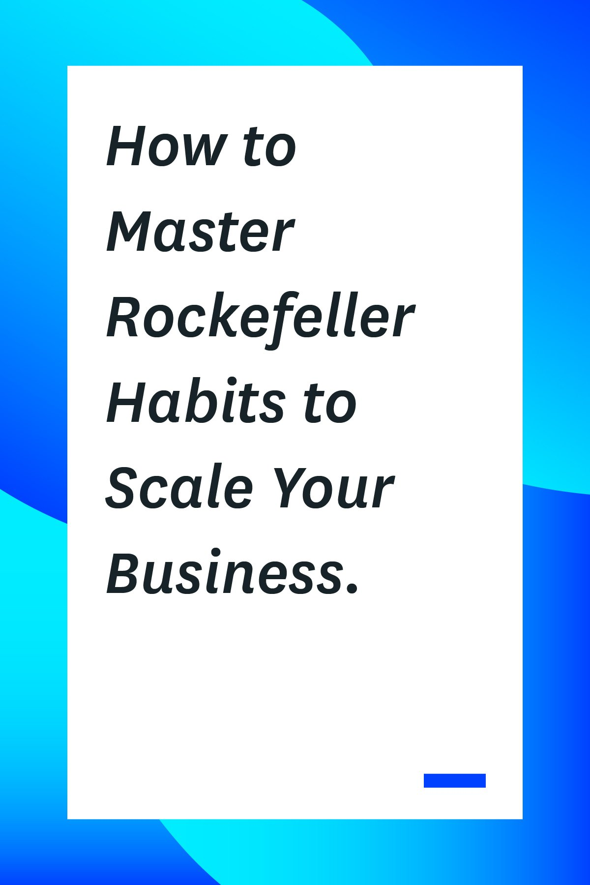 Rockefeller habits are 10 easy-to-implement habits that will improve productivity and company culture for your team. Learn more about them here.